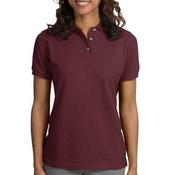 Ladies Pique Knit Polo