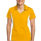 Ladies Side Blocked Micropique Sport Wick® Polo